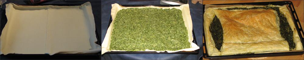 Geburtstagsessen - Spinat-Platschinta