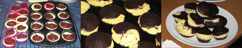 Geburtstagsessen - Brownie-Käsekuchen-Muffins
